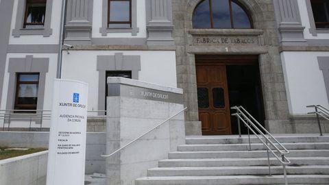 Sede de la Audiencia Provincial en A Coruña, donde se celebró el juicio por la brutal paliza en Arzúa
