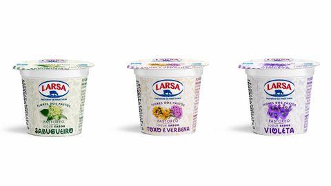 Nuevos sabores de yogures de flores de Larsa