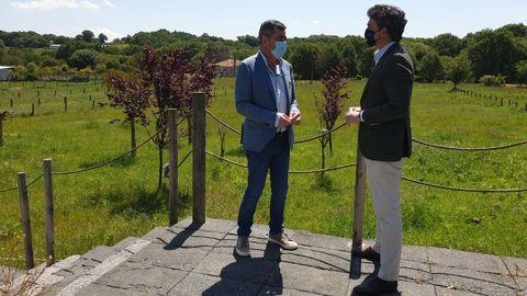O delegado da Xunta en Lugo reunido co alcalde de Antas de Ulla