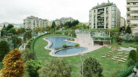 Recreación del proyecto de parque en A Ponte
