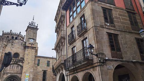 Edificio que Jácome propuso comprar en la Praza do Trigo