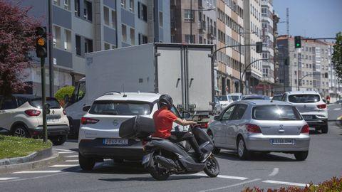 El cruce de la Galuresa es un punto conflictivo por la gran densidad de tráfico que soporta