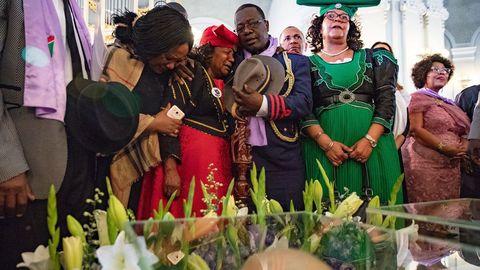 Ceremonia del 2018 tras la recuperación de restos de las víctimas del genocidio en Namibia