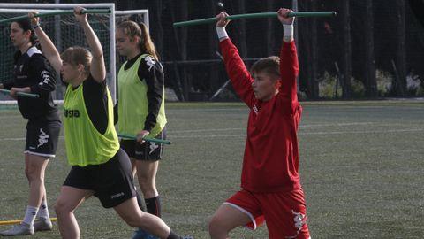 Álvaro, durante una sesión reciente de entrenamiento con el Victoria