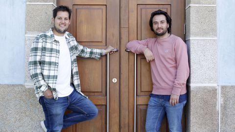 Jorge Cobelo y Fernando Amador, dos de los organizadores de la cita
