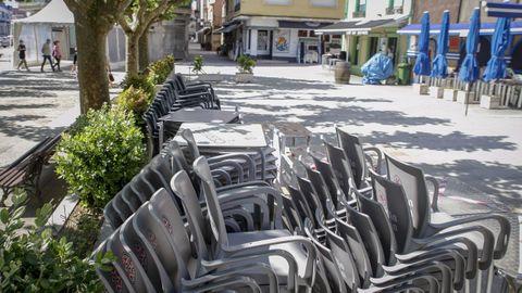 Los locales hosteleros de A Pobra se vieron obligados a cerrar de nuevos sus puertas al entrar en el nivel máximo de alerta