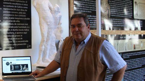El alcalde de Verín, en una foto de archivo, en el Museo Mercedario