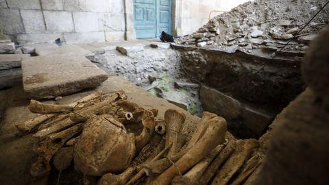 Restos de los huesos localizados