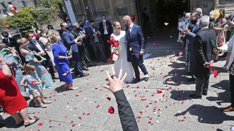 Celebración de una boda. El enlace había sido suspendido tres veces por la pandemia.