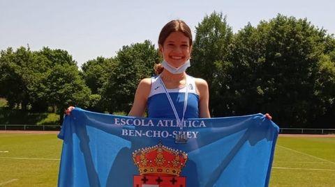 Naroa Pereira batió el récord del club Ben Cho Shey en la categoría sub-14 de los 1.000 metros