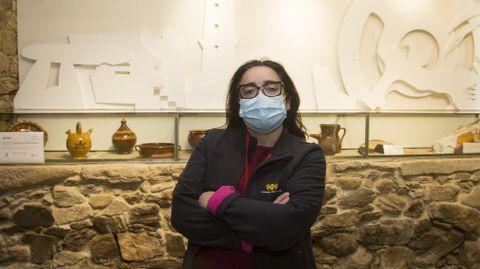 Raquel López, guía de las Torres do Allo