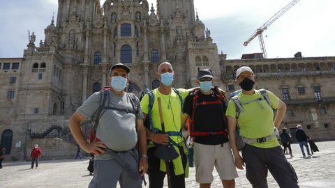 Daniel, Rogerio, Ricardo y Alberto se conocieron haciendo el Camino Primitivo