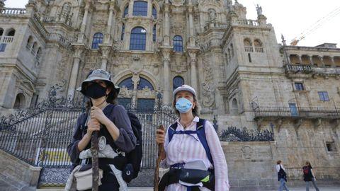 Dos amigas madrileñas que llegaron desde Sarria
