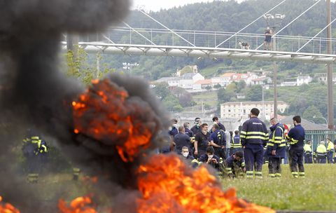 A comarca de Ferrolterra volve a saír a rúa para pedir carga de traballo. 27/05/2021