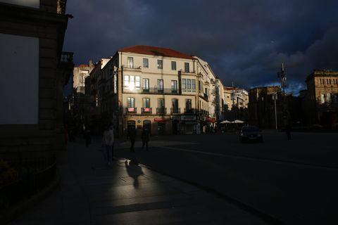 Vista da Praza de España en Pontevedra. 13/05/2021