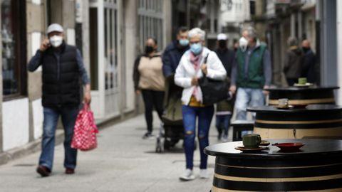 La hostelería de Viveiro funciona solo en terraza (aforo del 50%) desde el pasado sábado