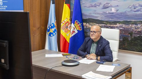 José Manuel Baltar, en la reunión de Partenalia