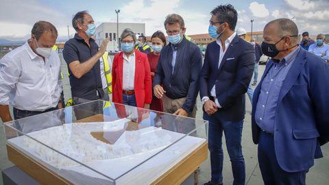 Imagen de archivo del acto de presentación del proyecto para remodelar la fachada marítima de Porto do Son