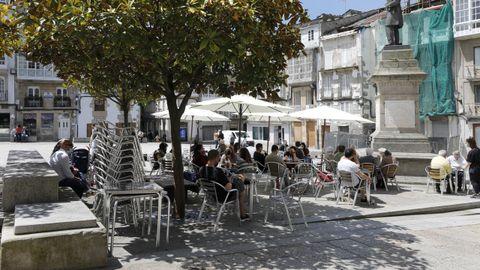 Viveiro entró en restricciones altas el pasado sábado, con la hostelería funcionando únicamente en terrazas y al 50%