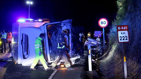 Imagen del lugar del accidente mortal de Caldas, en el que fallecieron tres personas