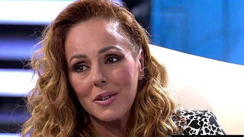 Rocío Carrasco, en un momento de la entrevista en Telecinco