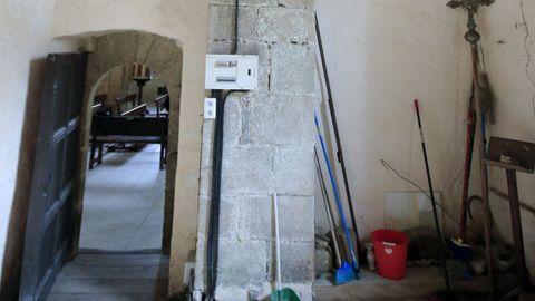 Interior de la iglesia de Penamaior, zona de la sacristía