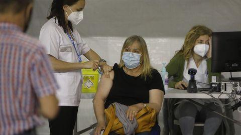 El Paco Paz comenzó a funcionar como centro de vacunación
