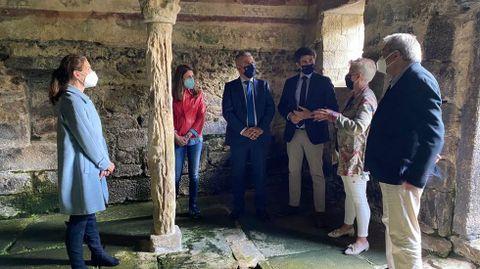 Visita de Javier Arias a Santa Eulalia de Bóveda