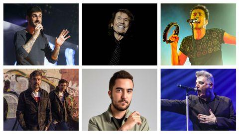 Algunos de los artistas que actuarán en el ciclo O Son do Camiño-Perseidas: Melendi, Raphael, Vetusta Morla, Estopa, Beret y Loquillo