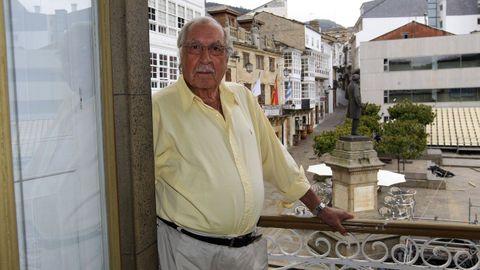 César Pais Agrelo, en imagen de archivo en su domicilio de Viveiro, a donde regresaba siempre que podía