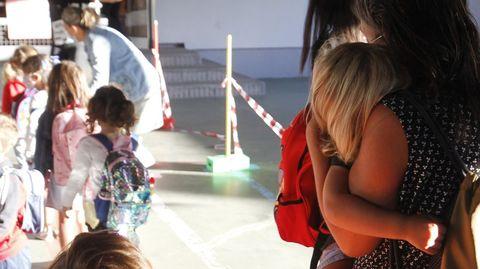 Imagen de archivo del primer día de curso en un colegio de Ferrol