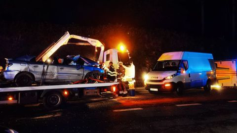 El último accidente mortal en la N-640 ocurrió el miércoles por la noche en Caldas