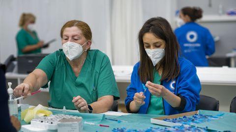 Vacunación masiva contra el covid-19 en Expocoruña