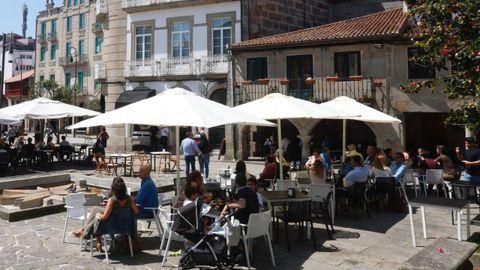 Imagen de archivo de una terraza en Pontevedra