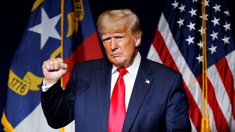 El expresidente estadounidense Donald Trump, en un mitin del partido Republicano en Carolina del Norte