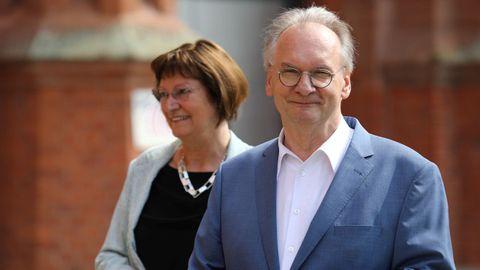 El presidente de Sajonia-Anhalt y aspirante a la reelección por la CDU, Reiner Haseloff
