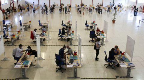 El recinto de FIMO acogió ayer la segunda jornada de vacunación masiva con Janssen