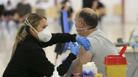 Vacunación en Ferrol
