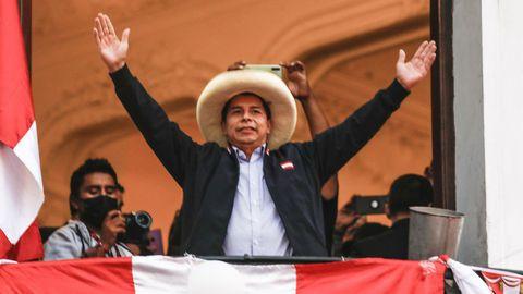 El candidato presidencial de Perú Libre, Pedro Castillo