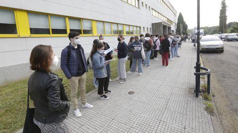 Primera jornada de selectividad en Galicia. Imagen de A Coruña