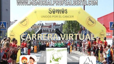 Cartel de la carrera solidaria del colegio Cervantes
