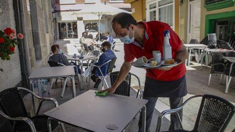 Los locales hosteleros de A Pobra entraron el lunes en el nivel alto de restricciones