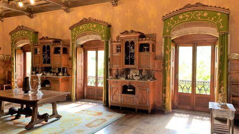 Interior del palacio de Doriga