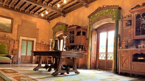 Estancia interior del palacio de Doriga