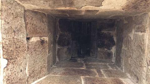 Aspecto del tiro de la chimenea por dentro