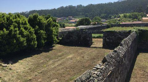 Los jardines están partidos por varios muros