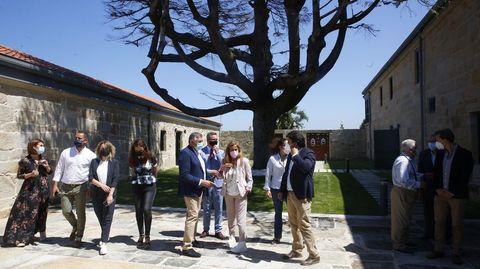 Visita institucional al pazo de Quintáns