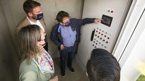 Visita de la conselleira a las instalaciones de A Malata el pasado lunes