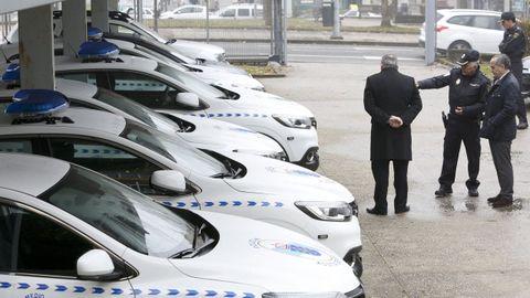 Aparcamiento de la Policía Autonómica de Lugo