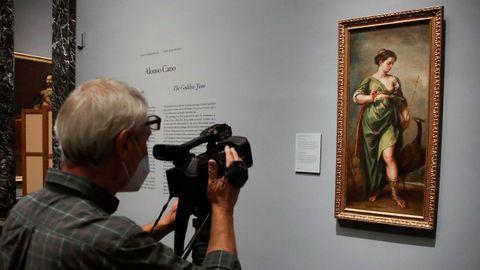 La obra del barroco español «La diosa Juno», presentada a los medios de comunicación en el museo